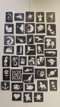 10 - 400 mixed stencils for Glitter tattoos/  Airbrush tattoos  / face painting Children in Need